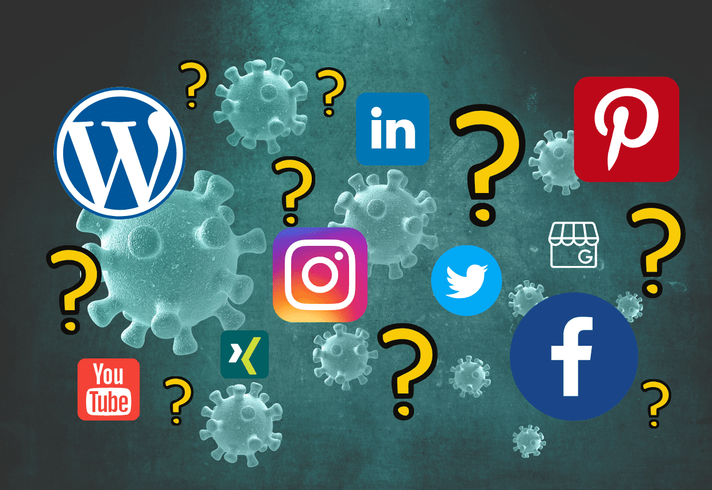 Social Media und Blog Coronakrise